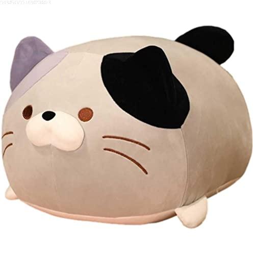 Yusat Almohada de peluche para gatos y gatos, almohada para dormir, lindo gatito, cojín de felpa suave, regalo para niños, almohada para novia