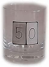 50th birthday Gift Whiskey Glass