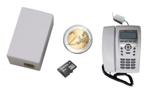 Registratore telefonate di linea fissa nascosto audio micro registratore spia