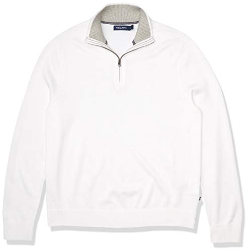 Nautica Men's Quarter-Zip Sweater, Bright White, X-Large