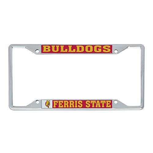 Desert Cactus Ferris State University FSU Bulldogs NCAA Metal License Plate Frame for Front or Back of Car Officially Licensed (Mascot)