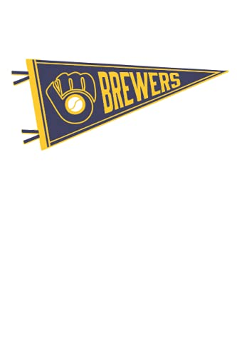 Milwaukee Brewers Notebook: Minimalist Composition Book | 100 pages | 6' x 9' | Collage Lined Pages | Journal | Diary | For Students, Teens, and Kids | For School, College, University, School Supplies