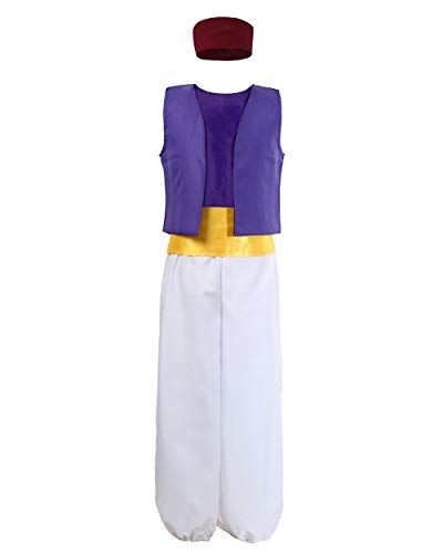 JiaDuo Mens Arabian Prince Costume Halloween Party Cosplay Outfit X-Large