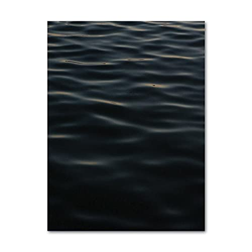 Yiwuyishi Sea Ocean Wave Landscape Wall Painting Canvas Art Nordic Posters and Prints Photos For Living Room Bedroom House 50x70cm(19.68x27.55 in) P-944