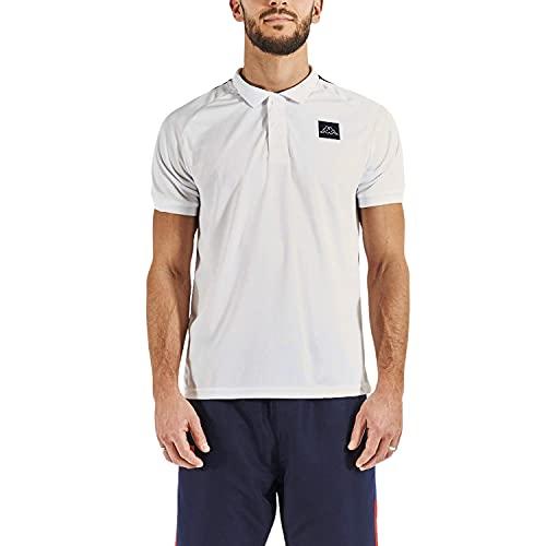 Kappa IMPIANI Camiseta, Blanco/Azul/Rojo, XL para Hombre