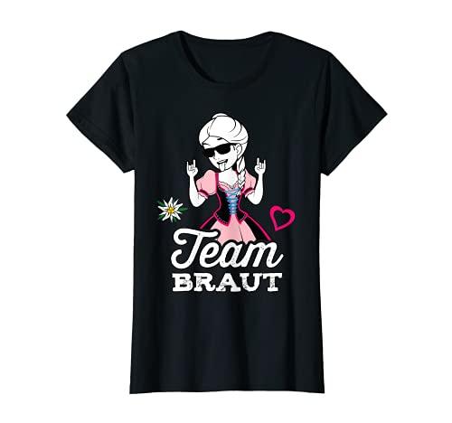 Damen Team Braut JGA Frauen Outfit Tracht Junggesellinnenabschied T-Shirt