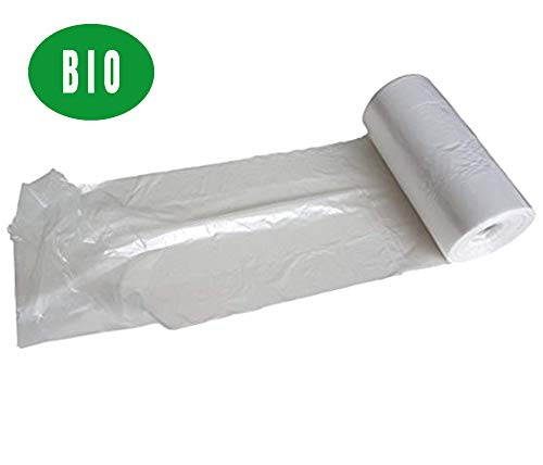 HDPE 25 x 40 cm CONTATORE sacchetti in polietilene in rotolo, sacchetti di plastica per imballaggi per alimenti confezionati per macelleria, panetteria, negozio, smaltimento rifiuti prodotto sicuro