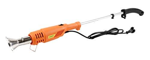 Kinzo Premium 3in1 Unkrautbrenner, Unkrautvernichter 2000W, Heißluftdüse mit 2 Mundstücken, Unkrautbrenner mit 2 Temperatur-Einstellungen, Unkraut-Abflammgerät max. 650°C, Länge ca. 100 cm