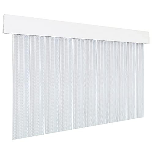HOME MERCURY – Cortina plana para puerta exterior o interior, material PVC – libre de insectos (210x90CM, Transparente P5)