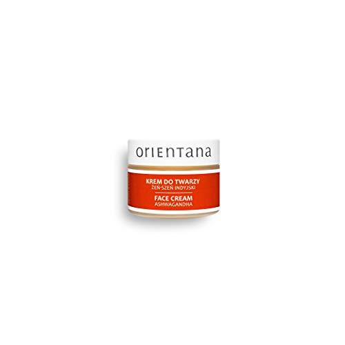 Orientana 99,7% Natürliche Gesichtscreme mit ASHWAGANDHA - Indische Ginseng - Vegan Bio Anti Aging & Falten Feuchtigkeitscreme für Damen mit reife empfindliche Haut - Verlangsamt Hautalterung, 40 g