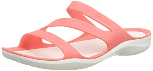 Crocs Swiftwater Sandal W, Donna, Rosa (Fresco), 39/40 EU