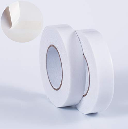 6 Rollen doppelseitiges Klebeband transparent strong extra dünn 24 mm Montageband Teppichklebeband Verlegeband