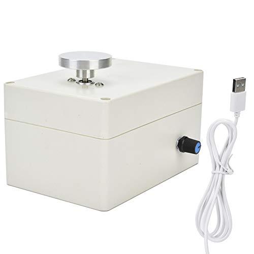 Cerlingwee Máquina de cerámica de Cambio de Velocidad Continua, Mini Rueda de cerámica de Mesa giratoria de(USB Plug)
