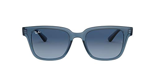 Ray-Ban RB4323 Square Sunglasses, Transparent Dark Blue/Azure Gradient Blue, 51 mm