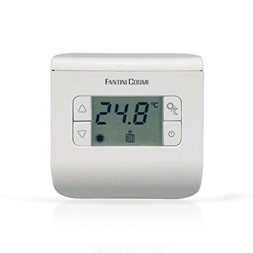 Fantini Cosmi CH110 Termostato Ambiente a Batterie, 3 temperature, Bianco
