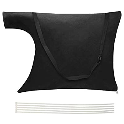 Luxiv Blower Leaf Bag 20 X 24 Inches, Black Leaf Blower Replacement Bag Leaf Blower Vacuum Bag with Zipper and Shoulder Strap (1, Black)