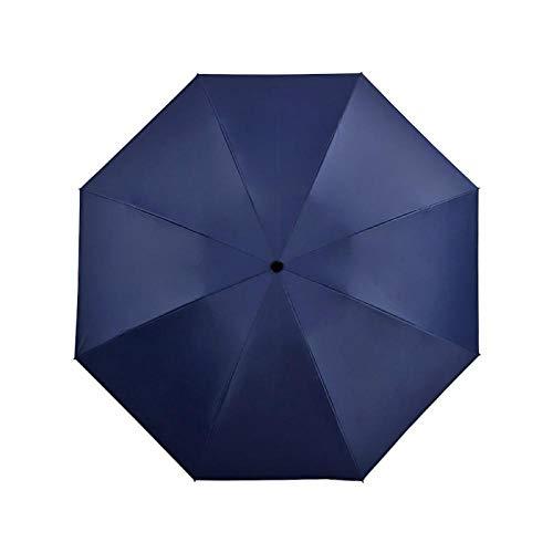 Sonnenschirm Regenschirm Faltbarer Reverse Umbrella Regen Frauen Männer Big Windproof Black Coating Sonnenschirme Geschenke Sonnenschirm Automatic Business Car Navy