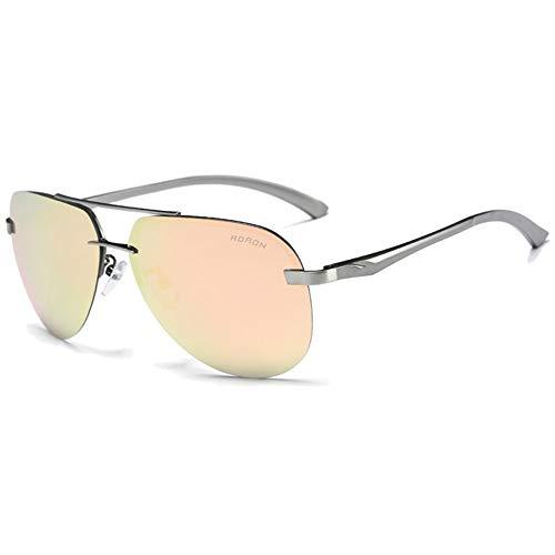 MGWA Gafas de sol de película de color clásico salvaje polarizado material de metal gafas de sol naranja marco azul/verde/naranja/rosa lentes hombres ...