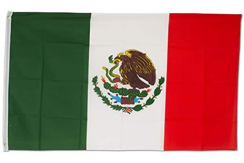 SCAMODA Bundes- und Länderflagge aus wetterfestem Material mit Metallösen (Mexico) 150x90cm
