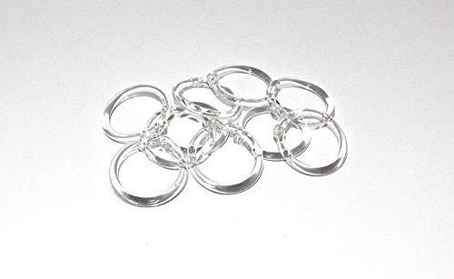 10 unidades de anillo de cristal para lámpara de araña de repuesto con orificio superior para el enganche. Medidas: diámetro de 4 cm, recambios de lámparas, accesorios de araña.