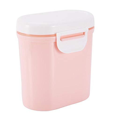 Dispenser per Latte in Polvere per Neonati, Bambini Seal Storage Box Contenitore Microonde Refrigeratible Bambino Sicuro Caramella Frutta Spuntino Tazza Scatola Metallica per Picnic Viaggio (Pink L)