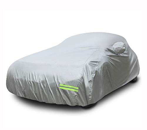 Mockins 175' x 70' x 60' Car Cover | 6 Layers of 190T Silver Polyester | All Weather Car Cover is Breathable and Water Resistant and Will Protect Your Automobile from All Elements