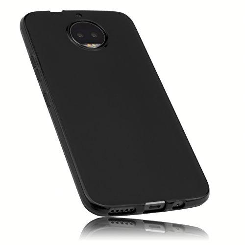 mumbi Hülle kompatibel mit Motorola Moto G5S Plus Handy Hülle Handyhülle, schwarz