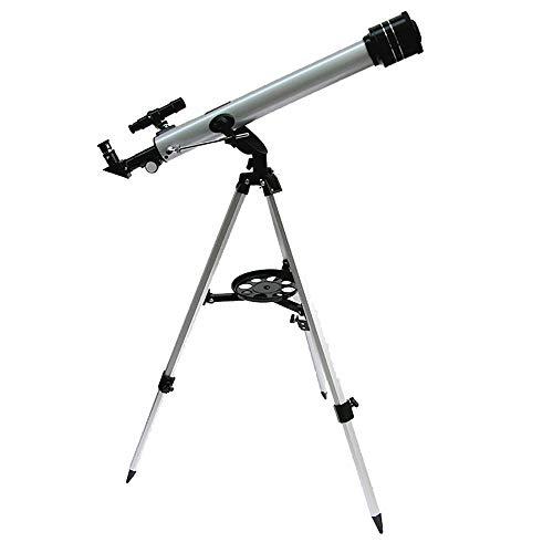 HUAA Telescopio astronomico Zoom HD para Niños,700/60mm Refractor Telescopio,Portatil con Trípode para Niños Infantil Principiantes Observer la Luna Aves Regalo para niños