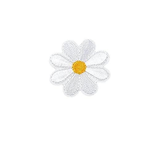 piccolo fiore del sole cerotti, toppa per vestiti con fiore margherita, ferro su applique per ricamo a margherita(b)