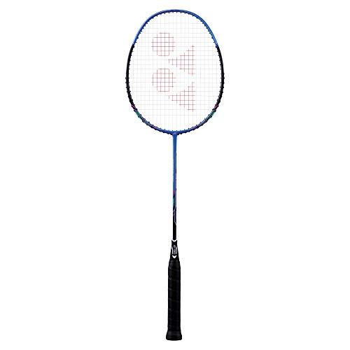 Yonex Badmintonschläger Nanoray 10F bespannt mit Hülle (blau)