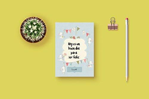 Wenskaart met envelop voor de geboorte, doop, verjaardag, bruiloft | Citaat: