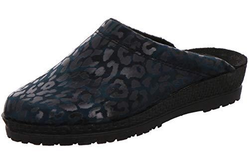 Rohde 2295 Neustadt-D Damen Schuhe Pantoffeln Hausschuhe, Größe:37 EU, Farbe:Blau