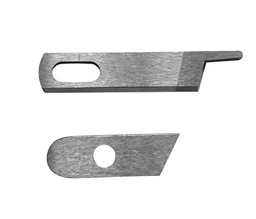 ZickZackNaehmaschine Obermesser y Untermesser (con Agujero) para Singer 14 U 14 SH Overlock