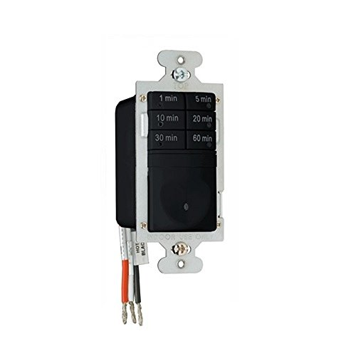 Legrand - Pass & Seymour RT1BKCCV4 Button Digital Timer Switch 120VAC 1/6 HP Easy Installation, Black
