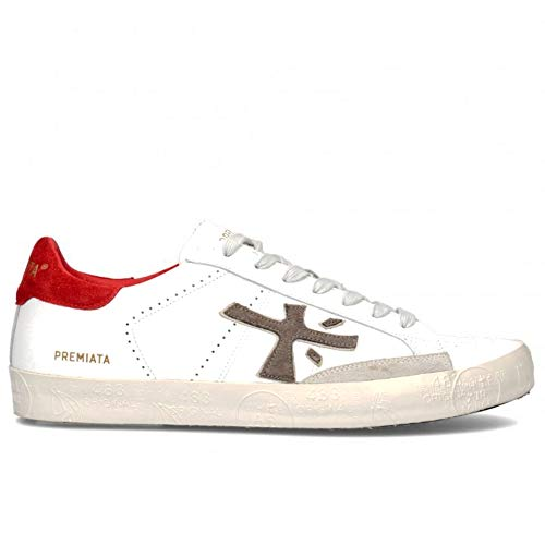 PREMIATA Sneakers Uomo Steven 4719 Bianca e Rossa - Steven 4719 - Taglia 40