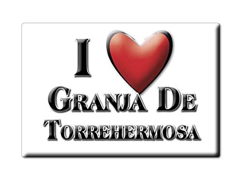 Enjoymagnets Granja DE TORREHERMOSA (BA) Souvenir IMANES DE Nevera ESPAÑA Extremadura IMAN Fridge Magnet Corazon I Love