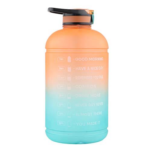 FOLOSAFENAR Botella de Gimnasia del jarro de Agua, No tóxico con Gran Capacidad, Resistente al Desgaste Botellas de Bebidas Deportivas con Tapa, un Mango cómodo para Deportes de Interior y Exterior