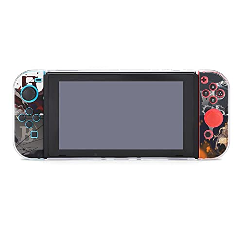 Clajdhgabd RWBY Protective Case for Nintendo Switch, Split Five-Piece Switch Game Console Protective Shell (2 Handle Covers, 2 Handle Bottom Shells, 1 Main Body Rear Shell)