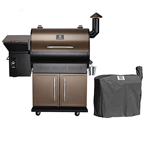 Z GRILLS ZPG-700D Wood Pellet Grill Smoker with 2020 Newest Digital Controls ,700 sq Cooking Area 8- in-1 Grill, Smoke, Bake, Roast, Braise ,Sear,Char-grill and BBQ for Outdoor