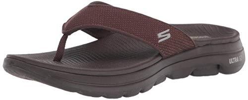 Skechers Men's Gowalk 5 Performance Walking Flip-Flop Sandal, Chocolate, 11