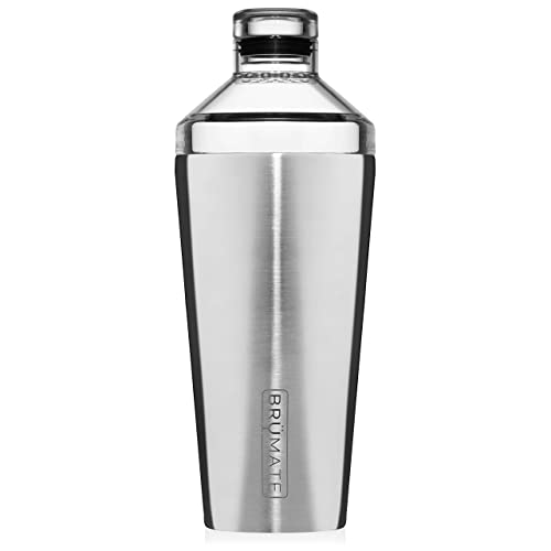 BrüMate Shaker, 20oz Triple-Insulated Stainless Steel Cocktail Shaker and Tumbler With Clear, Shatter-Proof Top and Lid (Shaker)