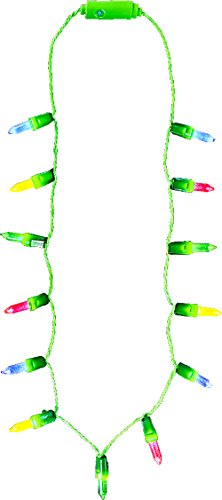 Rhode Island Novelty Holiday Christmas Light-Up Party Supply Mini Christmas Lights Necklace (1 per Order)