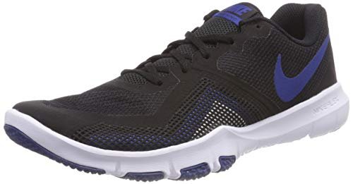 Nike Men's Flex Control Ii Black/Gym Blue - White Ankle-High Training Shoes 9.5M