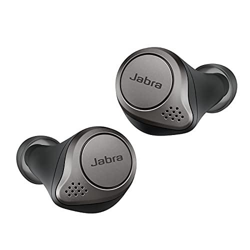 Jabra Elite 75t - Auriculares Bluetooth con Cancelación Activa de Ruido y batería de larga duración, Llamadas y música verdaderamente inalámbricas, Negro Titanio