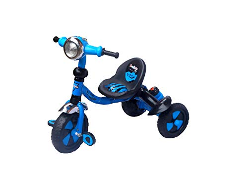 eHomeKart Tricycle for Kids - Duke Tri-Cycle - with Music, Sipper and Bell for Boys and Girls (1 Year - 4 Years)- Blue