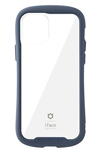 iFace Reflection iPhone 12/12 Pro ケース iPhone2020 6.1インチ クリア 強化ガラス [ネイビー]