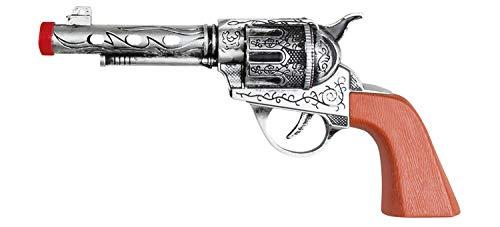 Boland 54338 - Pistole Deputy Sheriff, 20cm, silber, braun, Ornamente, Kind, Spielzeug, Karneval, Fasching, Halloween, Mottoparty, Verkleidung, Theater