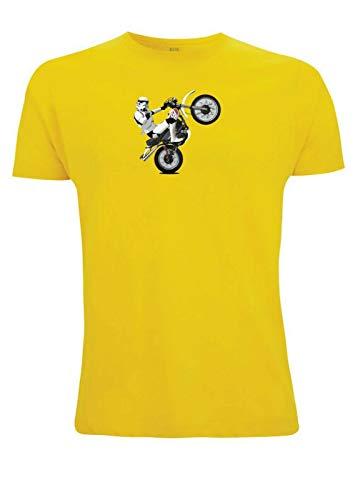 Time 4 Tee Yamaha XT 500 T-Shirt Stormtrooper Classic Scrambler 1970er Jahre Adventure UK Geschenk für Vater, Ehemann, Bruder, Freund Gr. S, gelb