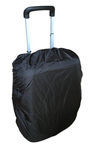 2X Regenschutz Abdeckung REGENHÜLLE für Gepäckkoffer/Reisegebäck – Wasserabweisende Abdeckung – Dehnbar – passend für Koffer & Gepäckkoffer Schutzhülle – faltbar & platzsparend (2 Stück) (Schwarz)