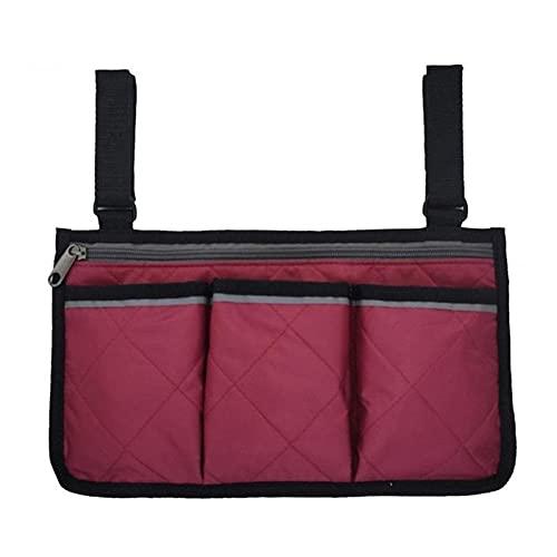 SZBLYY Bolsa Silla de Ruedas Bolsa de almacenamiento lateral de silla de ruedas, reposabrazos multifuncional, bolsa de silla de transporte, bolso de almacenamiento de bolsillo para ancianos, accesorio